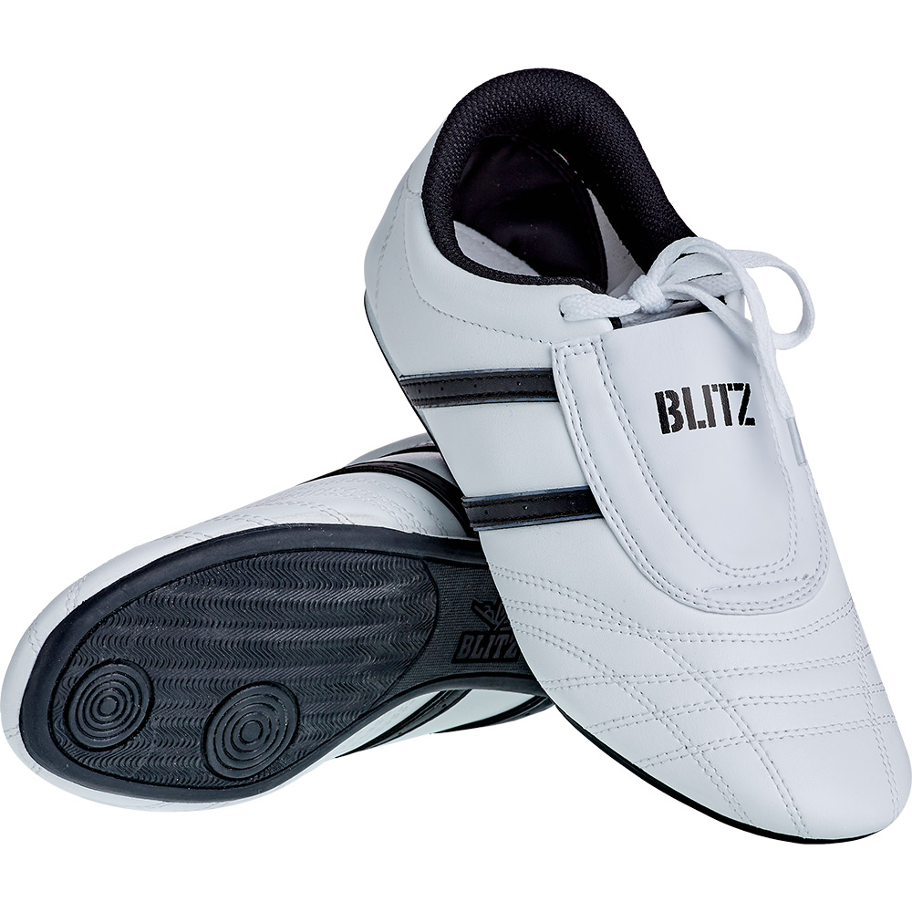 Image of Blitz Adult Martial Arts Training Shoes - White / Black