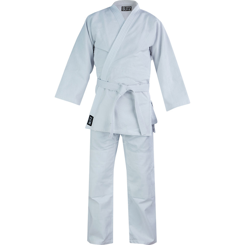Image of Blitz Adult Polycotton Middleweight Judo Suit - 450gsm
