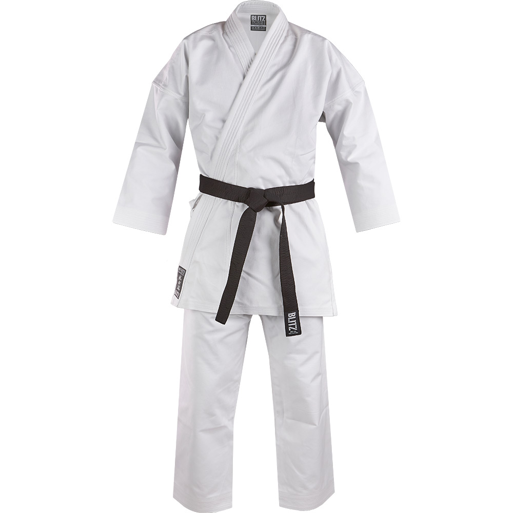 Image of Blitz Adult White Diamond Karate Suit
