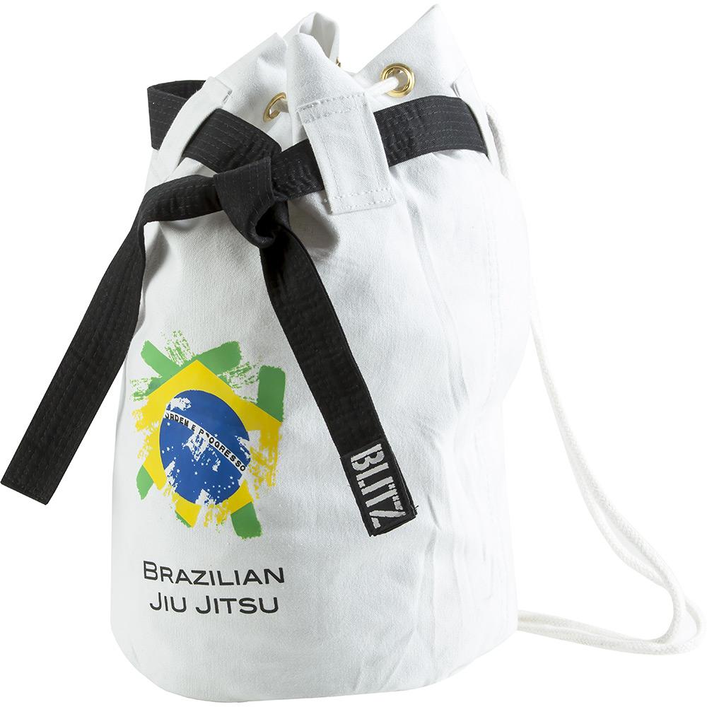 Image of Blitz Brazilian Jiu Jitsu Discipline Duffle Bag - White