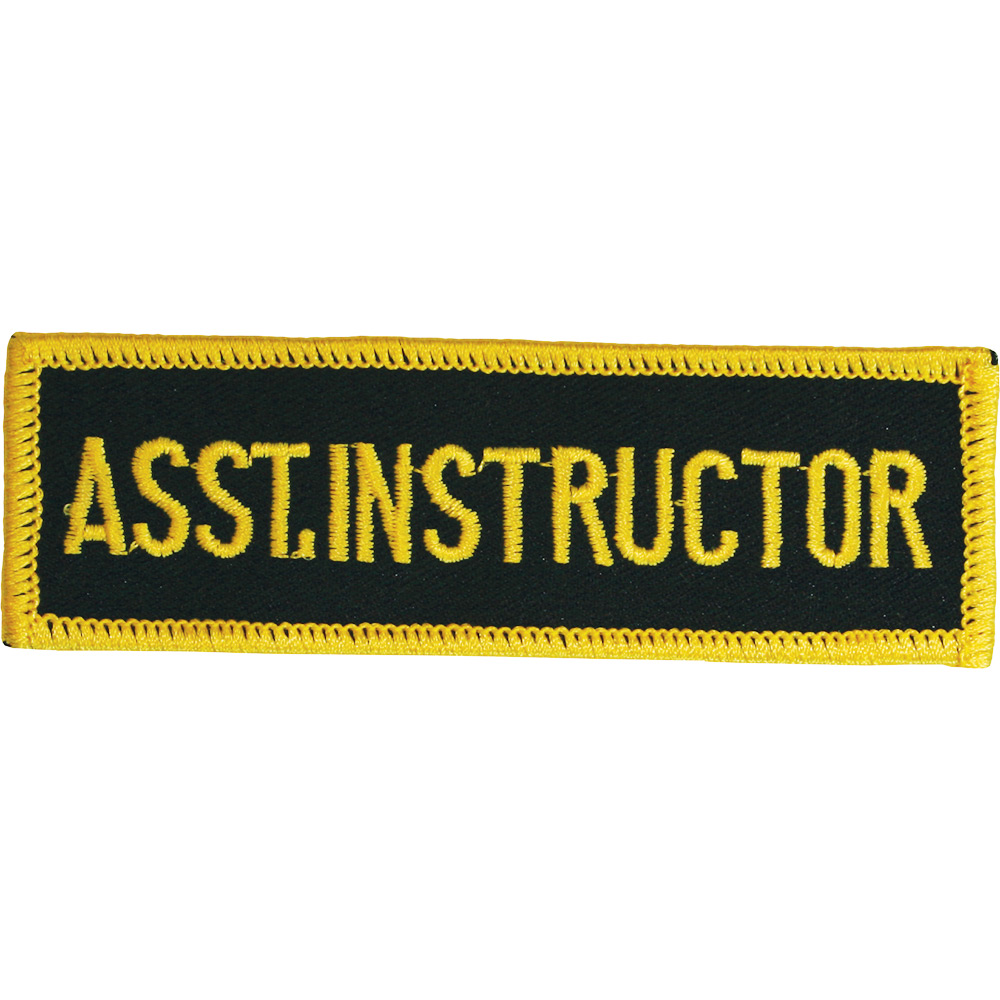 Image of Blitz Embroidered Badge - Assistant Instructor (A54)
