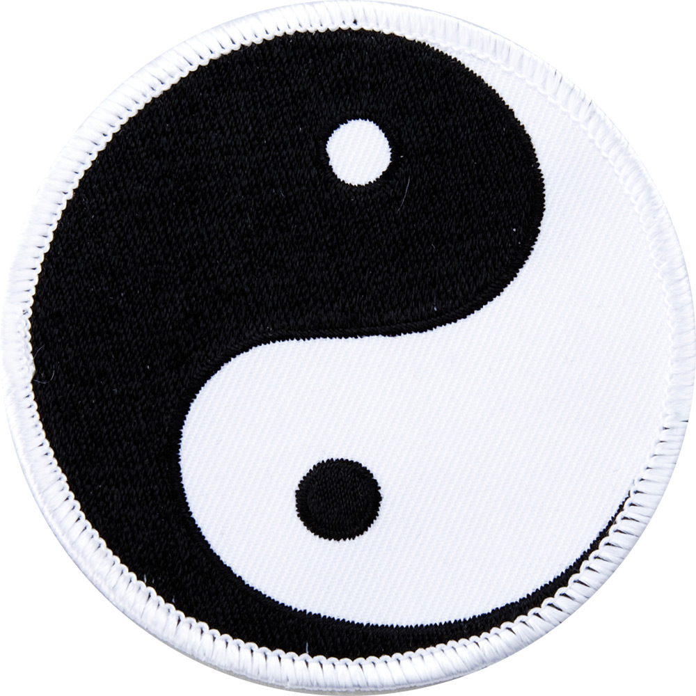 Image of Blitz Embroidered Badge - Ying Yang - Black / White (A22)
