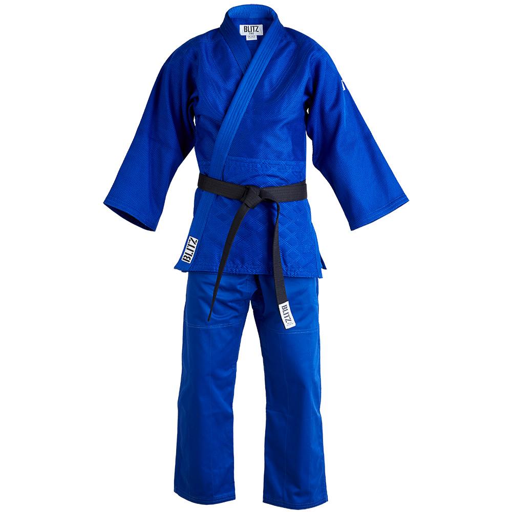 Image of Blitz Polycotton Master Heavyweight Judo Suit - Blue - 750gsm