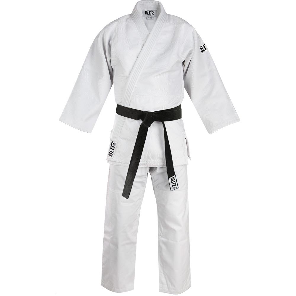 Image of Blitz Polycotton Master Heavyweight Judo Suit - White - 750gsm
